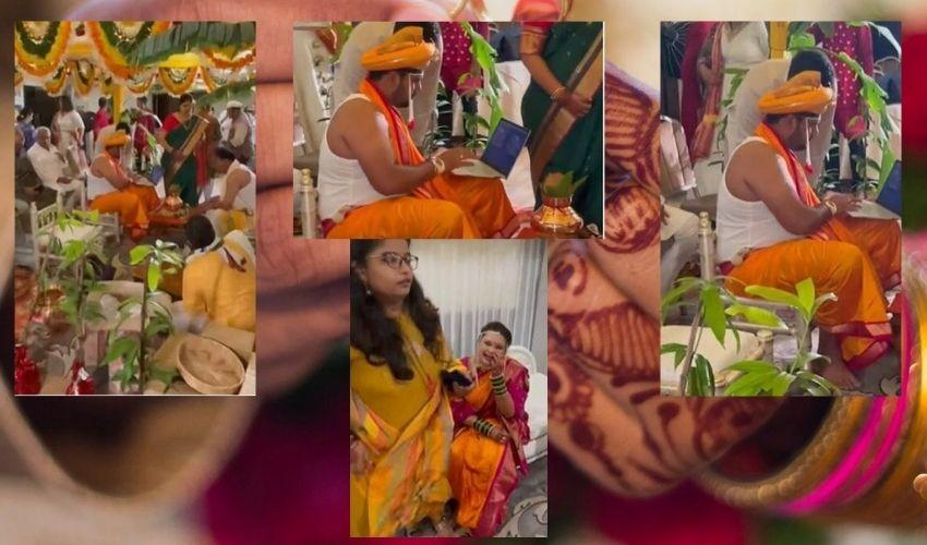 Work From Wedding : కొన్ని క్షణాల్లో పెళ్లి..ల్యాప్టాప్ పెట్టుకుని వర్క్ చేసిన వరుడు