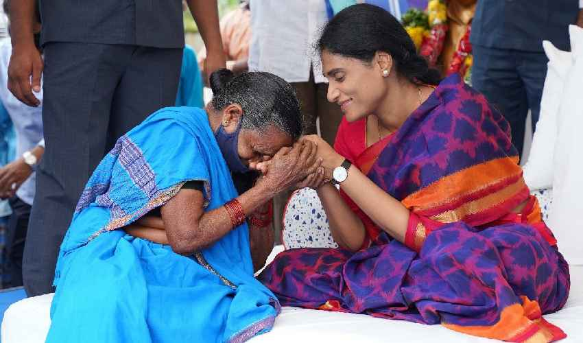 Ys Sharmila In Khamma District Penuballi Deeksha