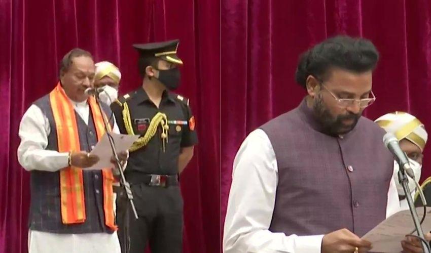 Karnataka Cabinet Expansion : కర్ణాటకలో కొలువుదీరిన కొత్త కేబినెట్..యడియూరప్ప కుమారుడికి నిరాశ