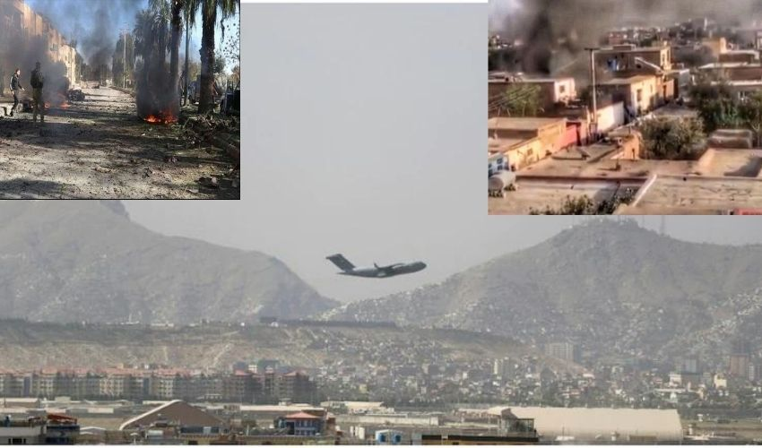 Afghanistan : కాబూల్ రాకెట్ దాడిలో ఆరుగురు మృతి..అమెరికా వైమానిక దాడి!