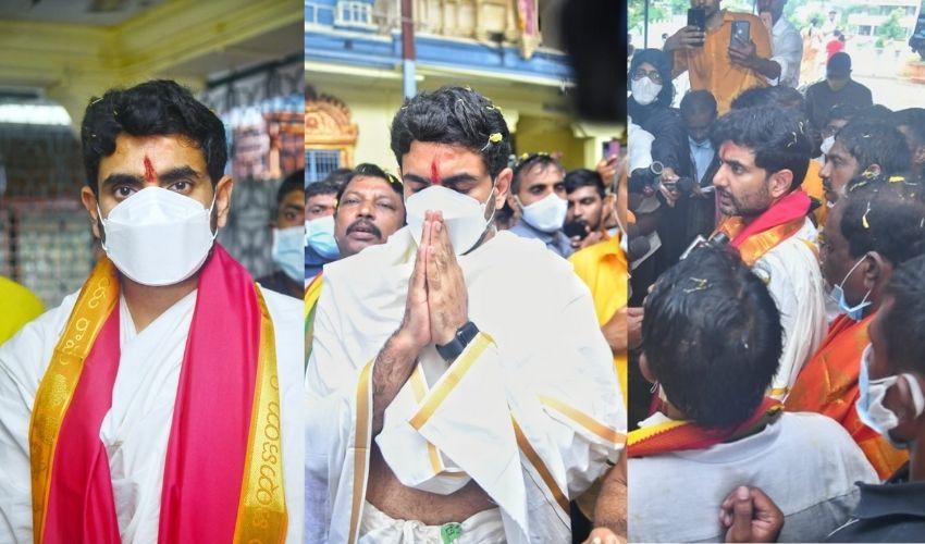 Nara Lokesh: ముంపు గ్రామాల్లో నారా లేకేష్.. భద్రాద్రి రామునికి పూజలు
