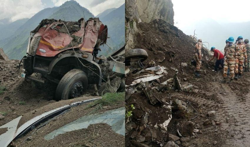 Kinnaur Landslide : కొండచరియలు విరిగిపడిన ఘటనలో 11 మంది మృతి..వీడియో