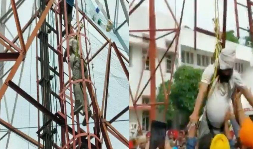 Surinder Pal : 135 రోజులుగా మొబైల్ టవర్ పై నిరసన..ప్రభుత్వ హామీతో కిందకి