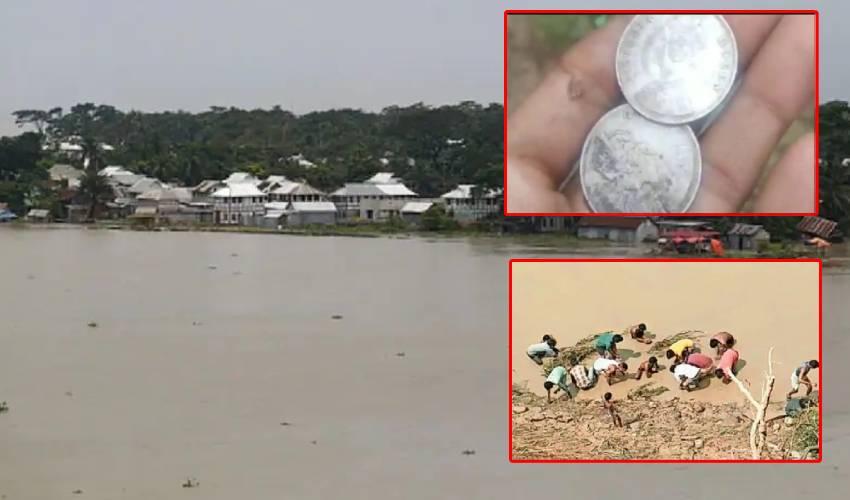 Silver Coins : నది ఒడ్డున వెండి నాణేలు.. ఏరుకునే పనిలో ప్రజలు