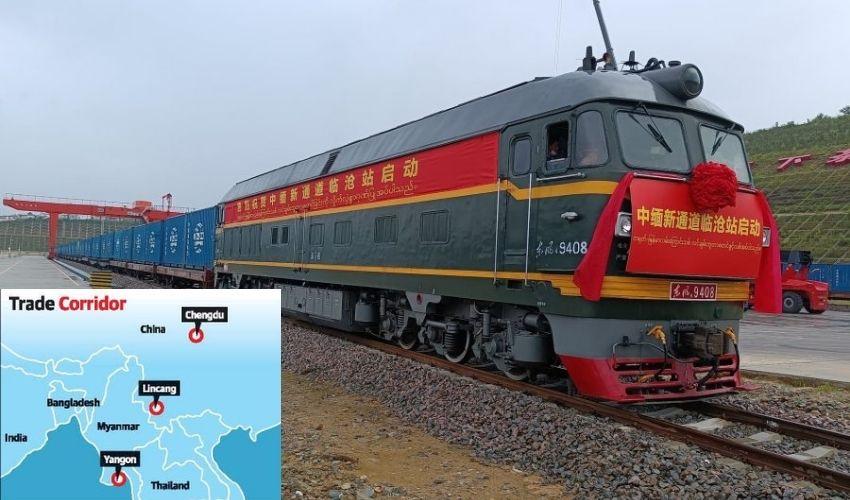 Indian Ocean-China : మయన్మార్ మీదుగా హిందూ మహాసముద్రంలోకి చైనా..కొత్త రైల్వే లైన్ ప్రారంభం