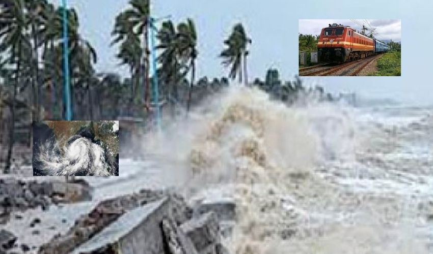 Gulab Hurricane : గులాబ్ తుపాను ప్రభావంతో పలు రైళ్లు రద్దు