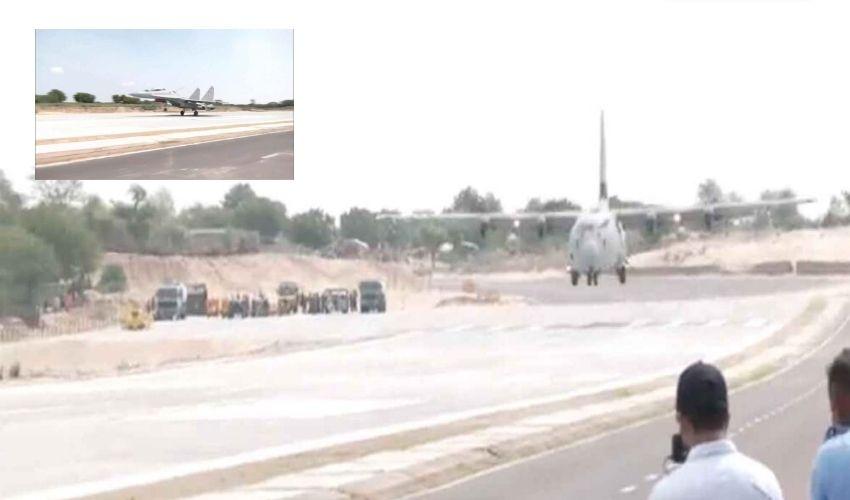 Warplanes Airstrip In India : యుద్ధ విమానాల అత్యవసర ల్యాండింగ్ ఎయిర్ స్ట్రిప్ ప్రారంభం