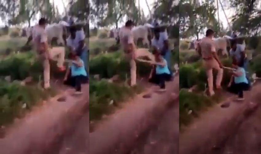 Rajoli Police: బూటు కాలితో తన్ని.. చావబాదిన ఎస్సై.. వీడియో వైరల్!