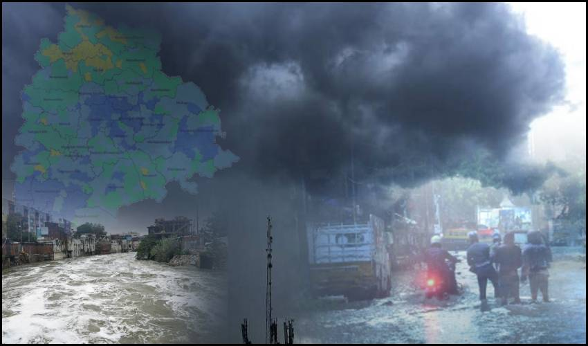 Gulab Effect : తడిసి ముద్దైన తెలంగాణ.. 14జిల్లాల్లో రెడ్ అలర్ట్..!