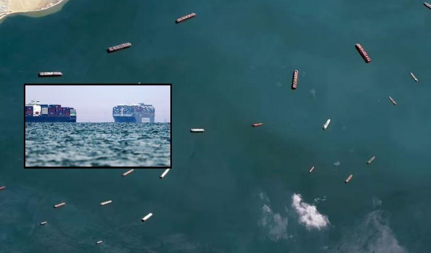 Suez Canal Traffic: సూయెజ్ కాలువలో మరోసారి ట్రాఫిక్ జాం…!