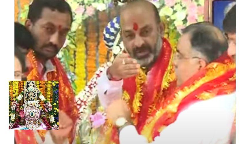 Bandi Sanjay : భాగ్యలక్ష్మీ అమ్మవారిని దర్శించుకోనున్న బండి సంజయ్, 438 కి.మీ పాదయాత్ర