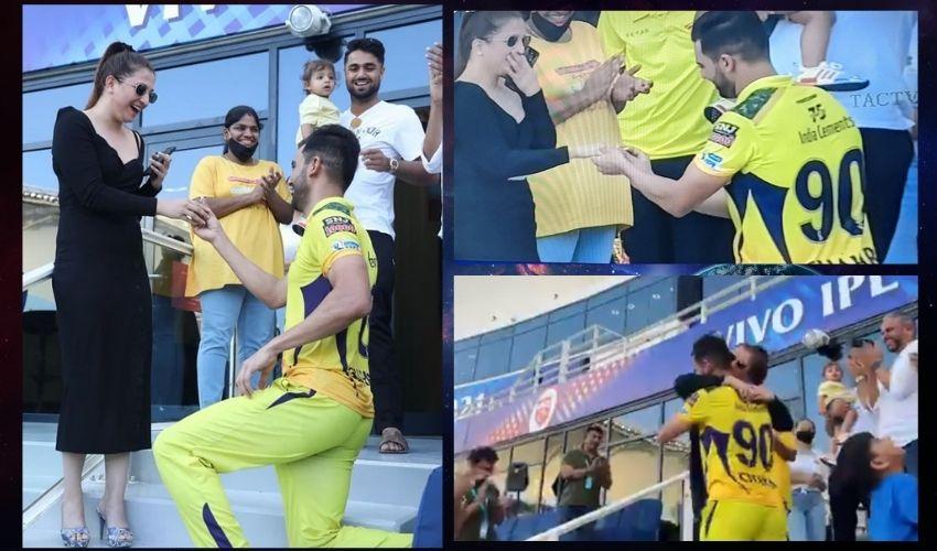 IPL 2021 : మోకాళ్లపై కూర్చొని గర్ల్ ఫ్రెండ్కు ప్రపోజ్ చేసిన దీపక్ చాహార్