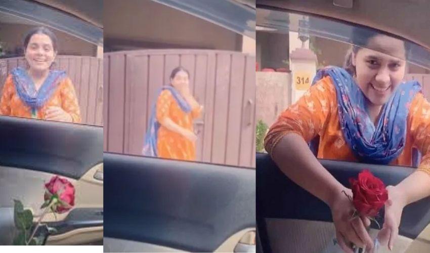 Viral Video: మటన్ కర్రీ చేస్తున్న భార్య..రొమాంటిక్ భర్త కొంటె పని