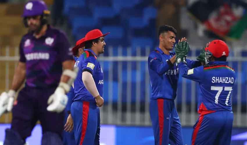 T20 World Cup 2021 : దంచికొట్టిన అఫ్ఘాన్ బ్యాటర్లు.. స్కాట్లాండ్ ముందు భారీ లక్ష్యం