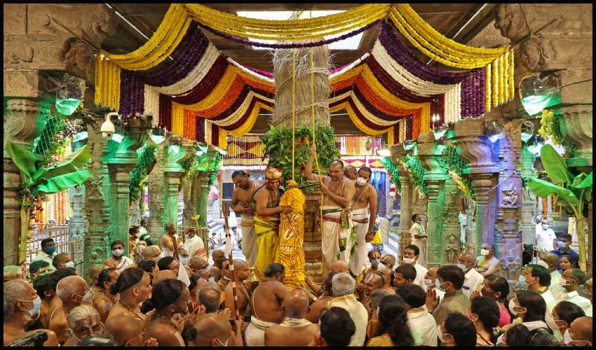 Tirumala Brahmotsavam : ధ్వజారోహణంతో శ్రీవారి సాలకట్ల బ్రహ్మోత్సవాలు ప్రారంభం